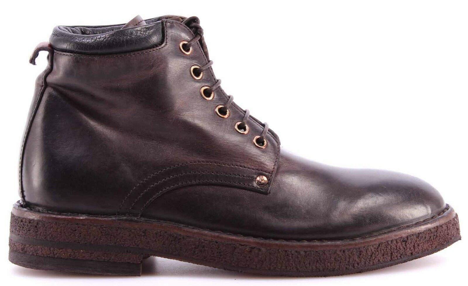 MOMA Scarpe Stivaletto Donna Ankle Boot 72503-TB Hannover TMoro Pelle Vintage IT