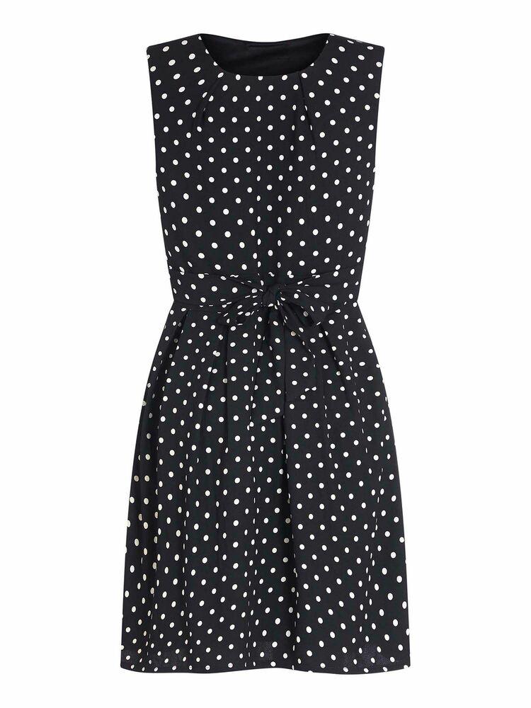 2019 Nouveau Style Mela London Polka Dot Robe Femme Femmes Taille Uk 8 Noir/blanc MatéRiaux De Choix
