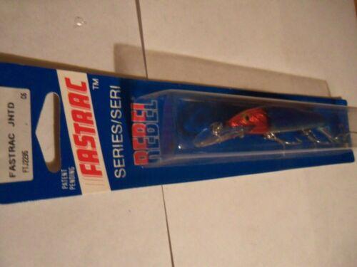 1 Rebel Fastrac Minnow Lure FTJ2295 Blue Clown NIP