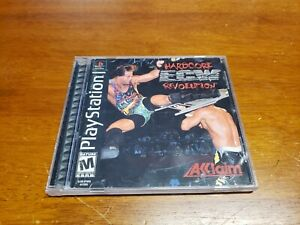 ECW-Hardcore-Revolution-Sony-PlayStation-1-PS1-Complete-with-Registration-Card