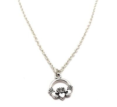 Claddagh Friendship Heart Love Charm Anklet Sterling Silver Chain Link Jewelry & Watches