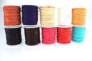 Deerskin Deer Leather Lace Spool Roll 1//8 3MM 50 Feet Cord String Red