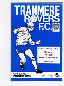 TRANMERE-ROVERS-V-PORT-VALE-3RD-DIVISION-13-9-74