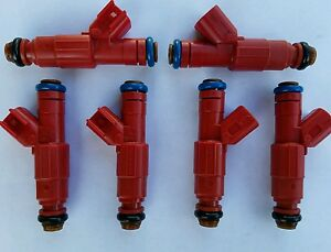 4.0L Fuel Injector Set 6 Bosch Upgrade 4 Hole Jeep Cherokee 1999