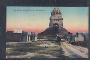 43727) AK Völkerschlachtdenkmal Leipzig noch als Baustelle Schild etc. 1913
