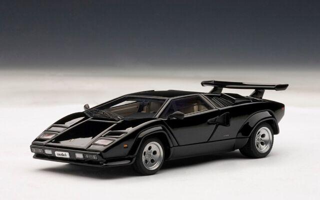 Autoart Lamborghini Countach 5000s Black Diecast Model 1 43 Ebay