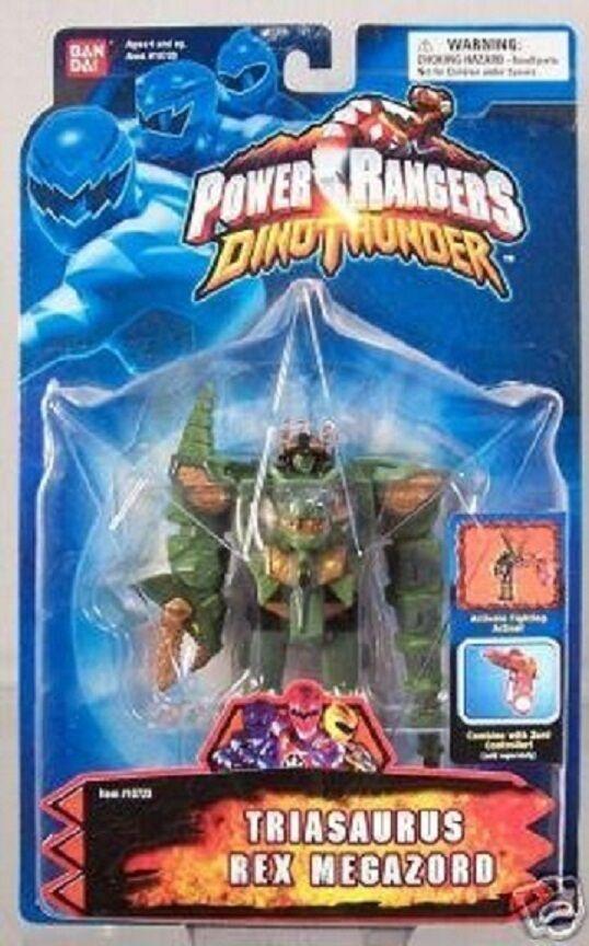 Power rangers dino donner grüne triasaurus 5  ranger neue fabrik versiegelt, 2003