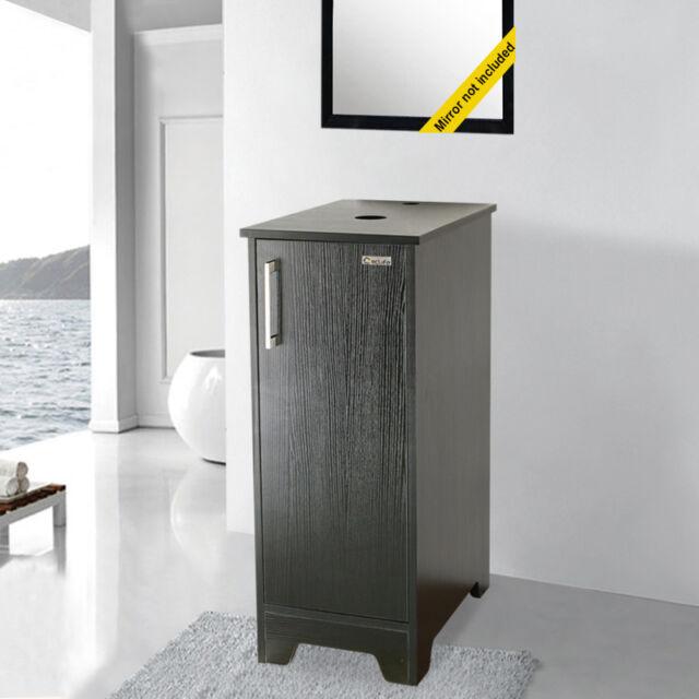 13 inch modern small bathroom vanity cabinet table organizer wood