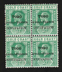 OPC 1916 Togo Overprint Error No Hyphen Upper Left Sc#80 MNH