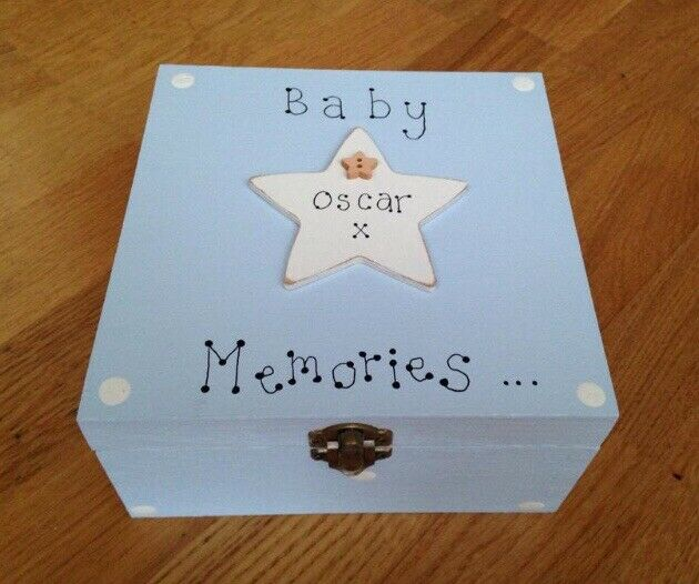 Personalised medium Shabby Chic Gift Trinket Jewellery Box