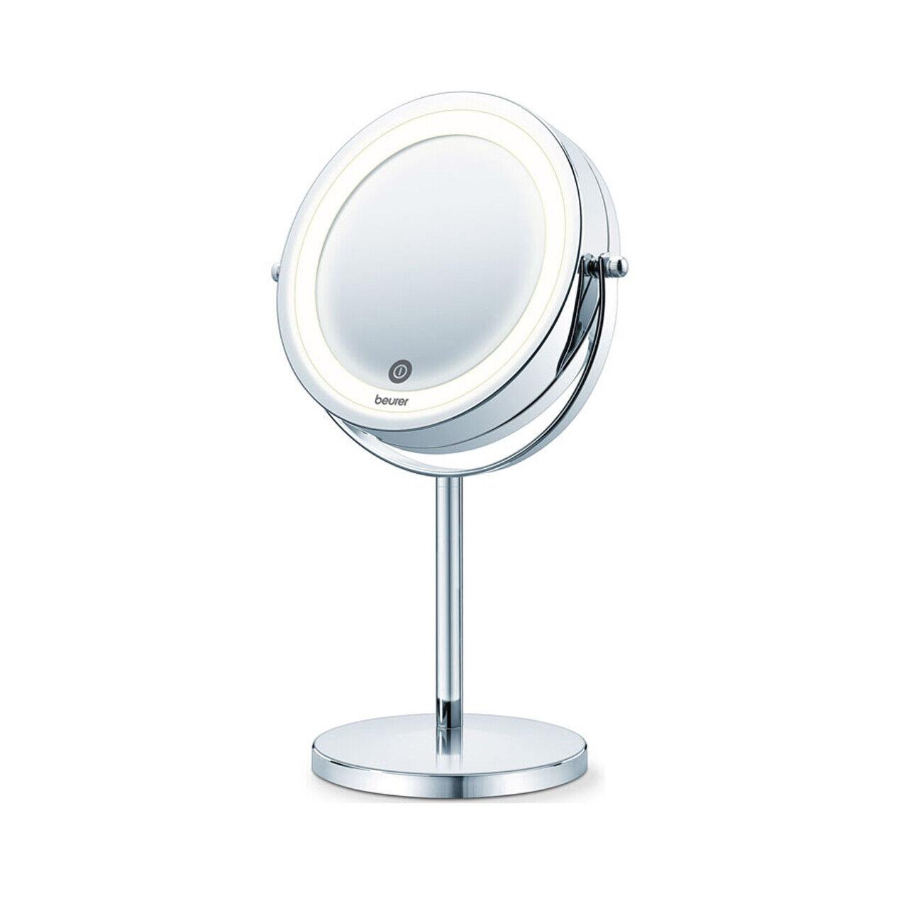 LED beleuchteter Kosmetikspiegel Tischspiegel Schminkspiegel mit 7-fachem Zoom