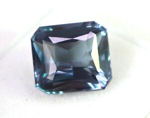 50.20 Carat Certified Natural UntreatedUnheated Octagon Shape Color Changing Russian Alexandrite Loose Gemstone VJ976