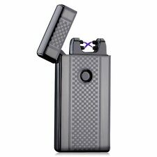 Dual Arc Electric USB Lighter Rechargeable Plasma Windproof Flameless Cigarette
