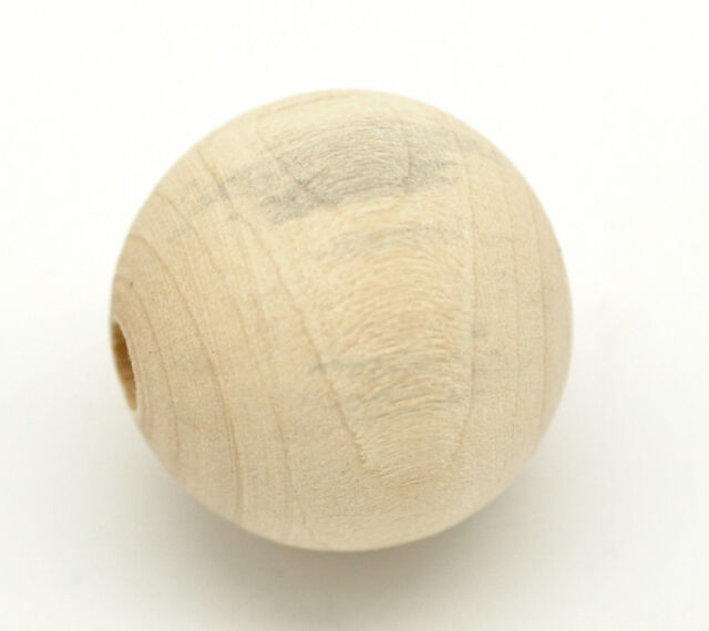 """150PCs Natural Ball Wood Spacer Beads 25mm(1"""")"""