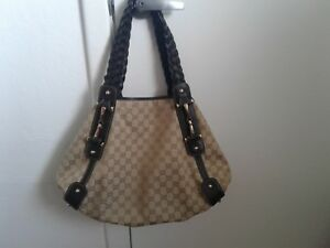 e8f73b240cb Image is loading Gucci-Guccissima-Large-Pelham-Handbag-Horse-Bit-Canvas-