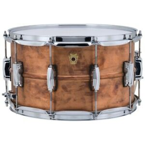 Ludwig-LC608R-Copper-Phonic-Raw-Copper-Snare-Drum-with-Imperial-Lugs-8-034-x-14-034