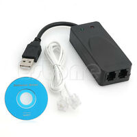 2 Dual Ports USB 56K V90 V92 External Dial Up Data Voice Fax Modem Vista Win7 XP