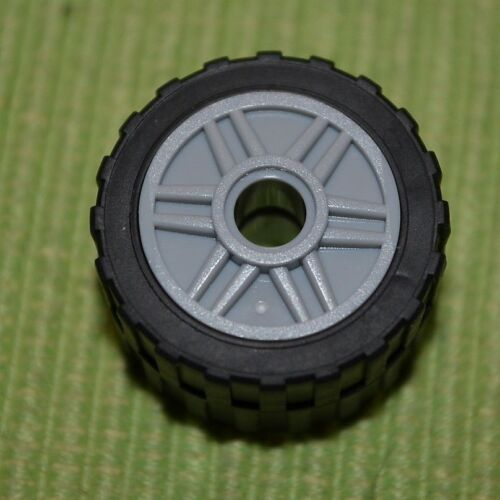 Lego Thin Wall Tires with Lt Gray Rims ~ NEW ~ Truck SUV Car tires 4 Tires -