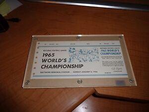 1965/ 66 World Championship NFL Football full ticket Balt Colts Phatom Ticket