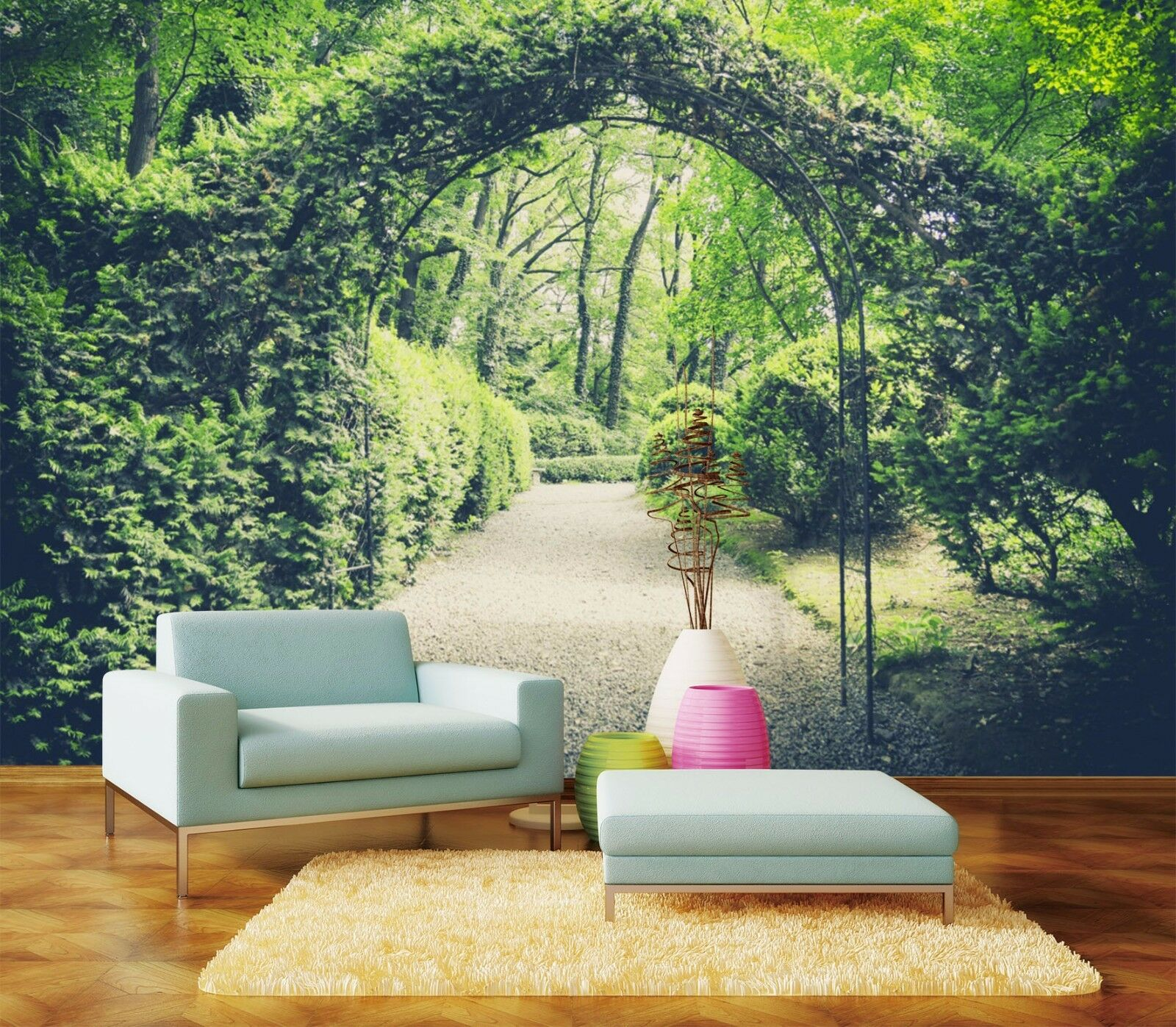 3D Leaves Arch 415 Wallpaper Murals Wall Print Wallpaper Mural AJ WALLPAPER UK