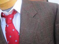 Fall Winter Mr NED Bespoke Luxurious Fabric Men Blazer Sport Coat Jacket Sz 44