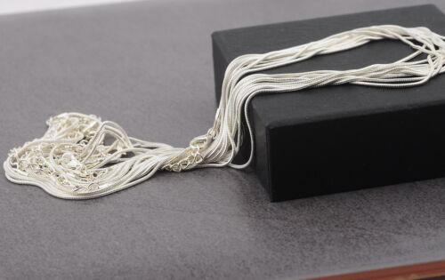 """Libre de níquel 1.2mm Collar serpiente Plata Plateado Cadenas de 16-18 /""""de largo Hágalo usted mismo Craft"""
