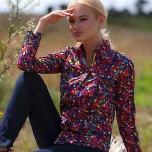 Claudio Lugli Womens / Ladies Cotton Shirt - PomPom Print Red