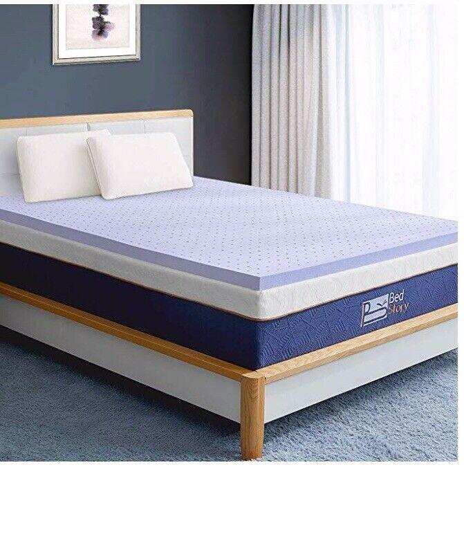 """BedStory Memory Foam Mattress Topper Twin, 3"""" Lavender Infused Foam Mattress"""
