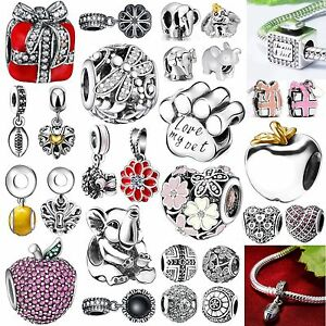 Fashion-Silver-Charms-European-Bead-Fit-Brand-New-3mm-Bracelet-Chain-925-Jewelry