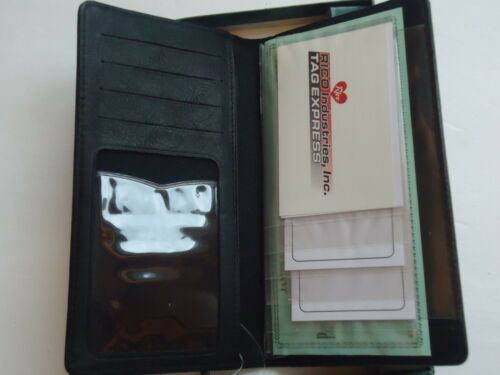 Koala Bear Genuine Leather Checkbook Wallet,Black