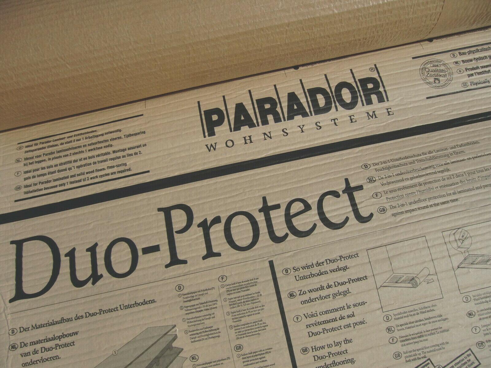 30 m² Rolle PARADOR Duo-Protect Trittschalldämmung unter Parkett & Laminat NEU