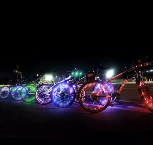 20 LED Rim Tire Wheel Spoke String Wire Cycling Flash Light Lamp For Bicycle Red