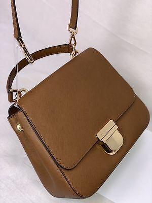 Michael Kors Medium Leather Crossbody Messenger Bag Purse Handbag Brown Gold 192317128611 | eBay