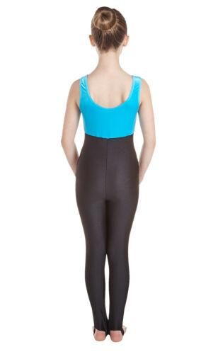 #GEMMA Black Lycra Crushed Velvet Catsuit Vest Top Plain Front
