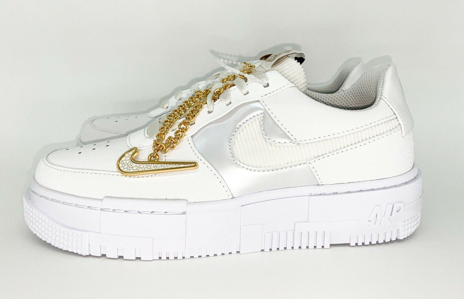 Original EU Größe 20,20   Nike Air Force 20 Pixel White Gold Chain ...