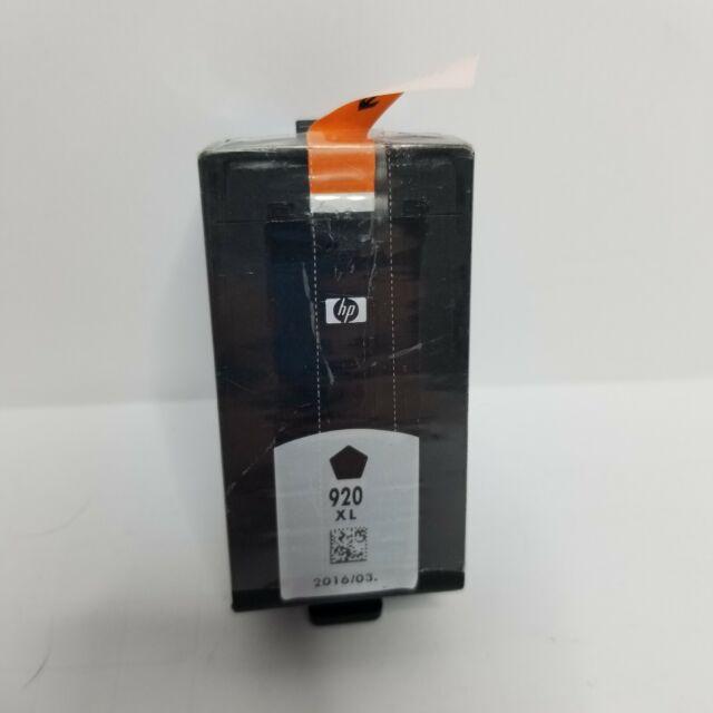 HP 920XL Genuine NEW  Black Ink Cartridge 920XL (CD975AN) OEM 2016/03