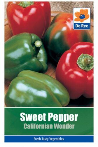 De Ree Sweet Pepper Californian Wonder Vegetable Seeds Pack of 45