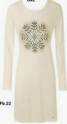 Triumph Ladies Nightgown Sleppshirt long sleeve 100% Cotton Ice crystal