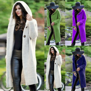 Women-039-s-Hooded-Cardigan-Casual-Knitted-Sweater-Long-Coat-Outwear-Jacket-Jumper