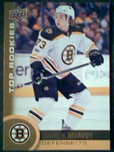 CHARLIE-McAVOY-17-18-AUTHENTIC-NHL-TOP-ROOKIES-GOLD-CARD-SP