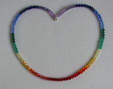 Stunning CRYSTAL Rainbow NECKLACE SWAROVSKI Elements STERLING SILVER 925 Unusual