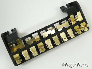 vw type 2 fuse box 10 fuses bay window 1968 to 1969 ebay rh ebay com