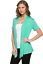 Women-039-s-Solid-Short-Sleeve-Cardigan-Open-Front-Wrap-Vest-Top-Plus-USA-S-3X thumbnail 53