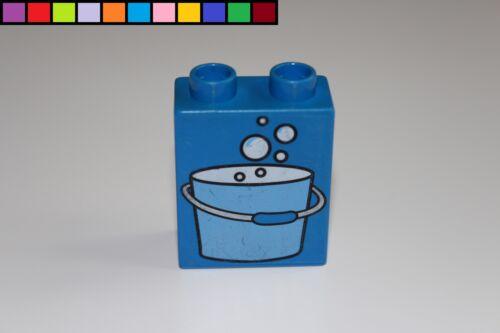 1x2 2er hoch blau Lego Duplo Baustein Eimer Schaum Blasen Motivstein