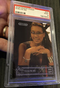 2006 Razor Poker #22 Evelyn Ng Psa 9 Rookie Card Pop 1 Of 1 None Higher!