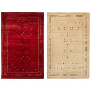 morgenland loribaft teppich fein croco handgekn pft beige rot schurwolle seide ebay. Black Bedroom Furniture Sets. Home Design Ideas