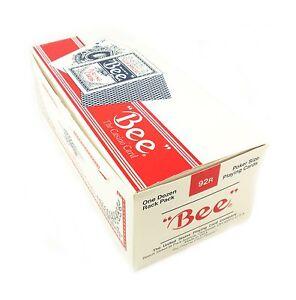 BEE-Playing-Cards-92R-Poker-Cards-12-Decks-6-Blue-Decks-6-Red-Decks-Brand-New