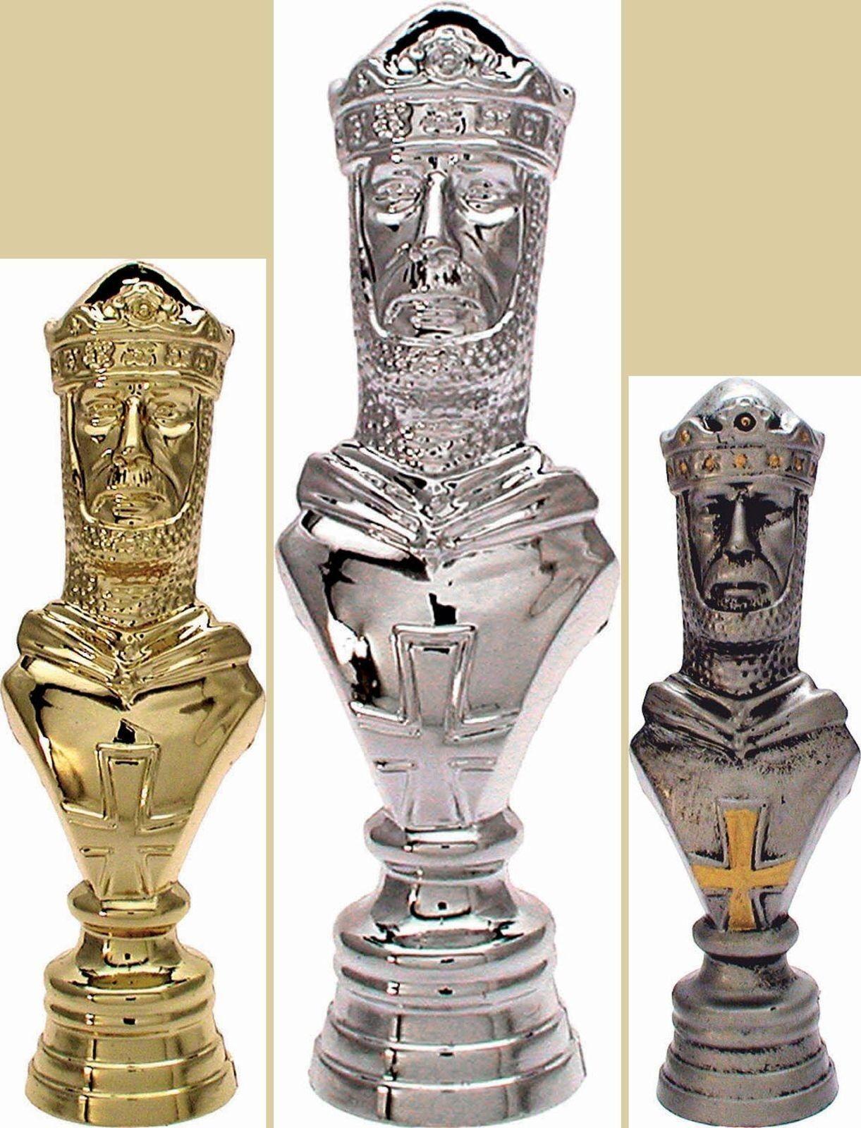 12 figuras de ajedrez rey 3d con mármol zócalo 16,5cm (trofeos torneo relámpago)