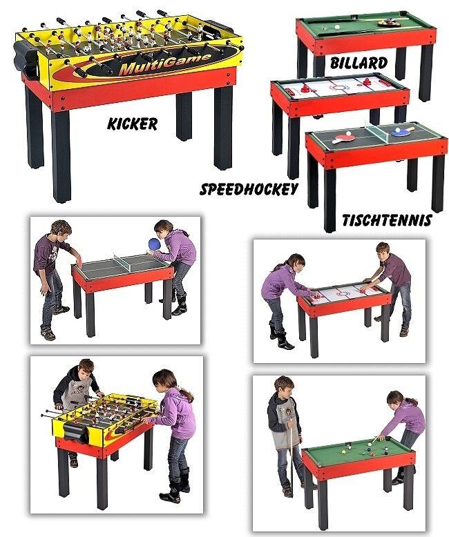 Mesa de Juegos Billar, Kicker, Mesa de Pimpón + Speedhockey