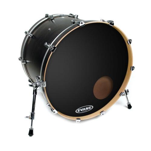 """Evans 22/"""" Black Onyx Resonant Bass Drumhead"""